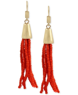 Kenneth Cole New York - Beaded Fringe Tassel Drop Earrings