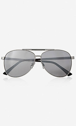 Express - Enameled Bridge Mirror Aviator Sunglasses