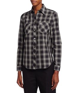 Michael Kors Collection   - Plaid Patch-Pocket Shirt