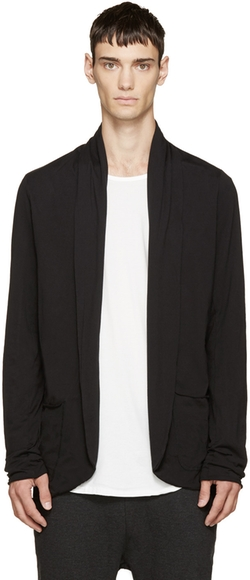 Attachment - Black Cotton Cardigan