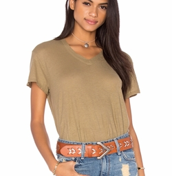Wilt - Cotton Jersey V Neck Baby Tee