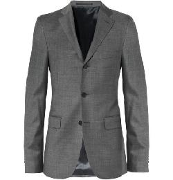 ACNE STUDIOS - GREY DRIFTER SLIM-FIT WOOL SUIT JACKET