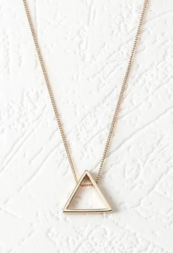 Forever 21 - Cutout Triangle Pendant Necklace