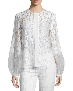 Alexis - Sue Long-Sleeve Lace Blouse