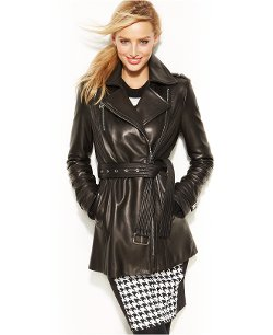 Michael Kors - Moto Leather Trench Coat