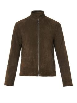 John Varvatos - Structured-collar Suede Jacket