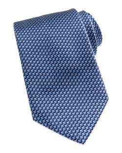 Ermenegildo Zegna   - Micro Slanted Diamond Silk Tie