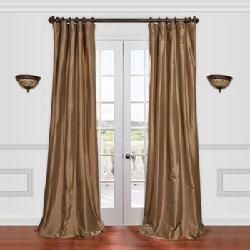 EFF  - Solid Faux-Silk Taffeta Window Panel