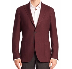 Saks Fifth Avenue Collection  - Plaid Wool Suit Jacket