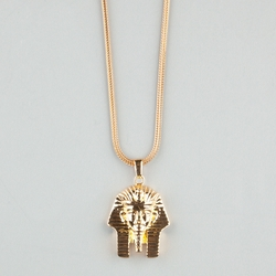 The Gold Gods - Pharaoh Head Necklace