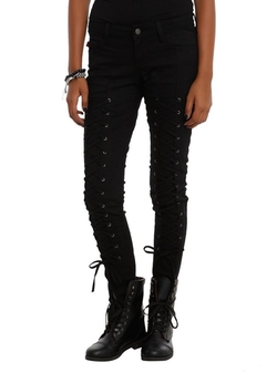 Hot Topic - Lace-Up Skinny Jeans
