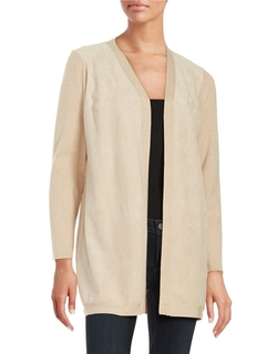 Calvin Klein - Faux Suede-Accented Cardigan