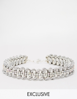 Only Child  - Crystal Woven Choker Necklace