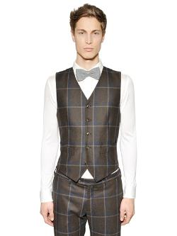 Tombolini - Macro Plaid Wool Vest
