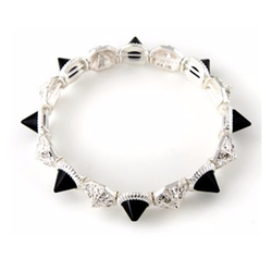 JewelryVolt - Studs And Pyramid Beads Bracelet
