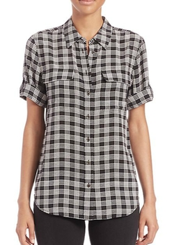 Equipment  - Slim Signature Plaid Silk Shirt