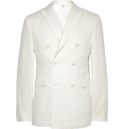 Burberry London - Double-Breasted Linen Blazer