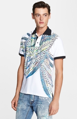 Just Cavalli - Feather Print Polo