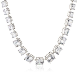 CZ By Kenneth Jay Lane - Cushion-Cut Cubic Zirconia Statement Necklace