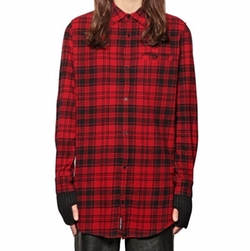Cheap Monday - Plaid Cotton Blend Flannel Shirt