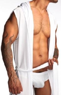 N2N Bodywear  - N2N - L7 - Dream - Super Soft Silk Like Sleeveless Robe- Cashmere, Black or White