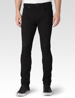Paige - Lennox Black Shadow Denim Pants