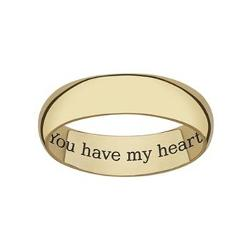 Sweet Sentiments  - 18k Gold Over Sterling Silver Wedding Band