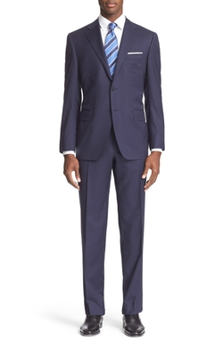 Canali - Classic Fit Stripe Wool Suit
