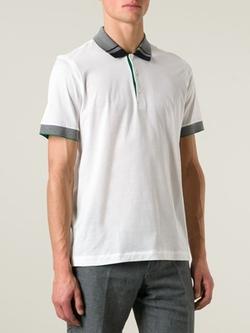 Brioni  - Contrasting Collar Polo Shirt