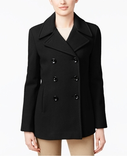 Calvin Klein  - Wool-Cashmere Double-Breasted Peacoat