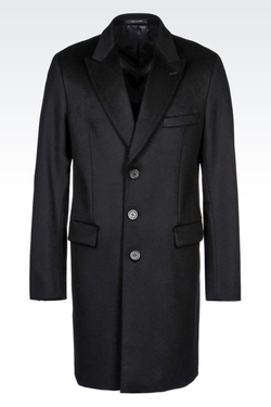 Armani - Classic Coat in Wool Broadcloth