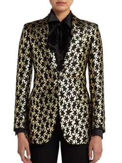 Saint Laurent  - Star Jacquard Blazer