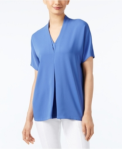 Alfani - Short-Sleeve V-Neck Blouse