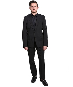 Versace  - Solid Two-Piece Polyester Suit