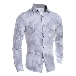 Unko - Printed Slim Fit Button Down Shirt