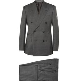 Kingsman  - Double Breasted Shadow Checked Wool Suit
