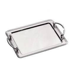 Leeber Limited - Stainless Steel Rectangular Tray With Handles
