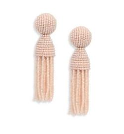 Oscar de la Renta - Short Beaded Tassel Clip-On Earrings