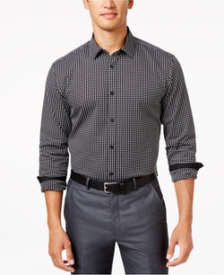 Alfani - Gingham Long-Sleeve Shirt