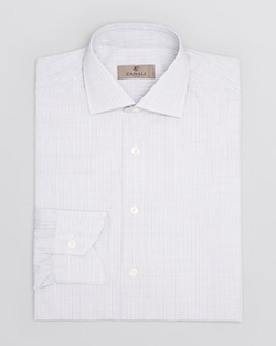 Canali Light -  Plaid Dress Shirt