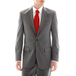 Izod - Gray Striped Suit Jacket