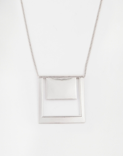 Asos  - Square Geo Pendant Necklace