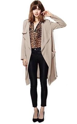Yiyou - Lightweight Drape Trench Coat