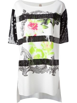 Antonio Marras   - Floral Sequined T-Shirt