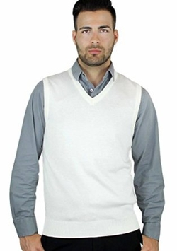 Blue Ocean - Solid V-Neck Sweater Vest