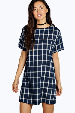 Boohoo  - Natalia Check Shift Dress