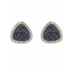 Marcia Moran - Teardrop Druzy Stud Earrings