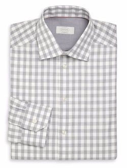 Eton of Sweden - Contemporary-Fit Gingham Dress Shirt
