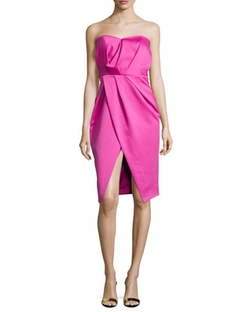 Camilla and Marc  - Strapless Pleated Sweetheart Cocktail Dress