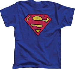 TV Store Online - Superman Distressed Printed Logo T-Shirt